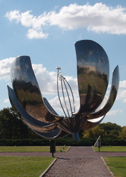 Giant Metal Flower in Buenos Aires