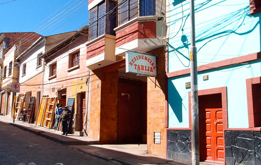 The front of Residencial Tarija in Potosi.