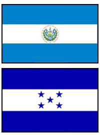 El Salvador and Honduras flags