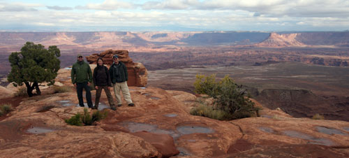 Jess, Jared and Kobus in Canyonlands.