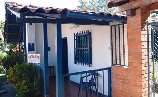 The entrance to the cabanas in San Gil.