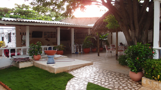 The courtyard at Villa Esther.