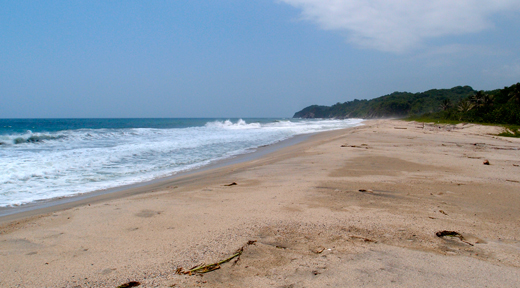 The beach outside our campground at Tayrona National Park.