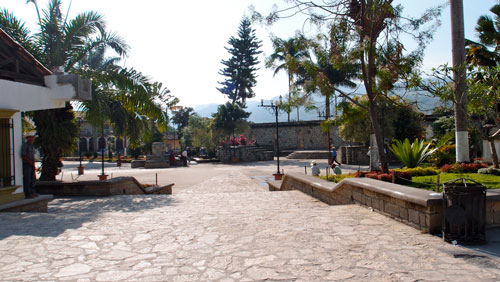 The central square in Copan.