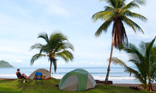 Our campsite on Playa Josecito.