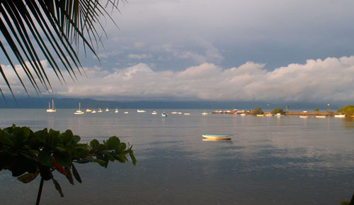 The view from our porch in Puerto Jimenez.