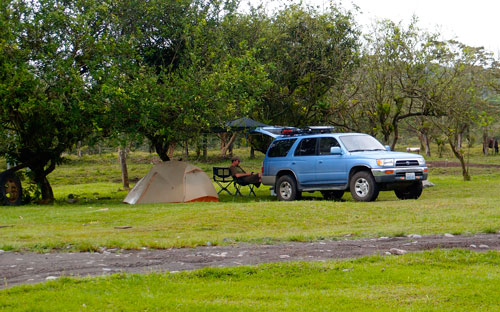 Our campground at Arenal National Park.