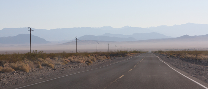 Road leading out of Death Valley