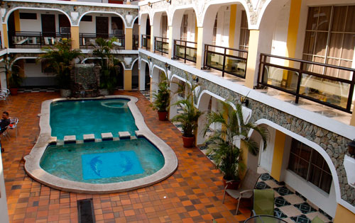 The interior of Hotel Kin Palace in San Miguel.