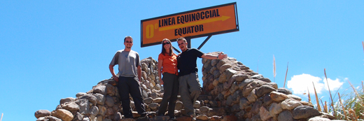 The three of us at the equator.