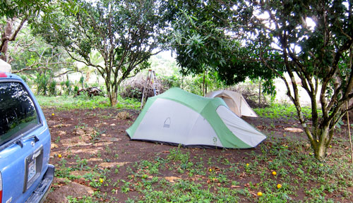 Our campground in the mud in Sarteneja.