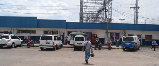 Aduana office at the port in Colon
