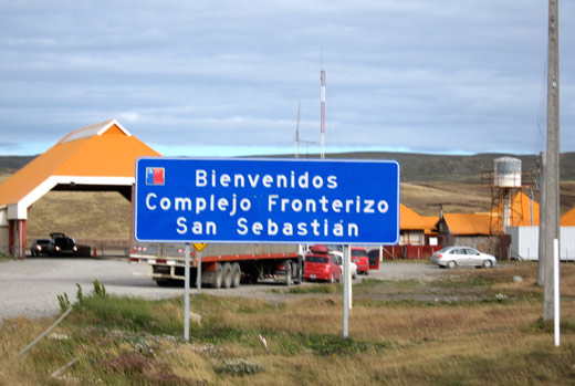 The Chilean side of the San Sebastian border crossing.
