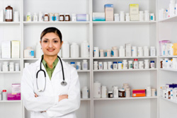 Doctor in a Pharmacy